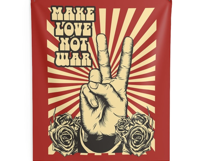 Make Love Not War Wall Tapestry LARGE