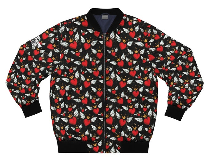 Sacred Heart -Black Bomber Jacket