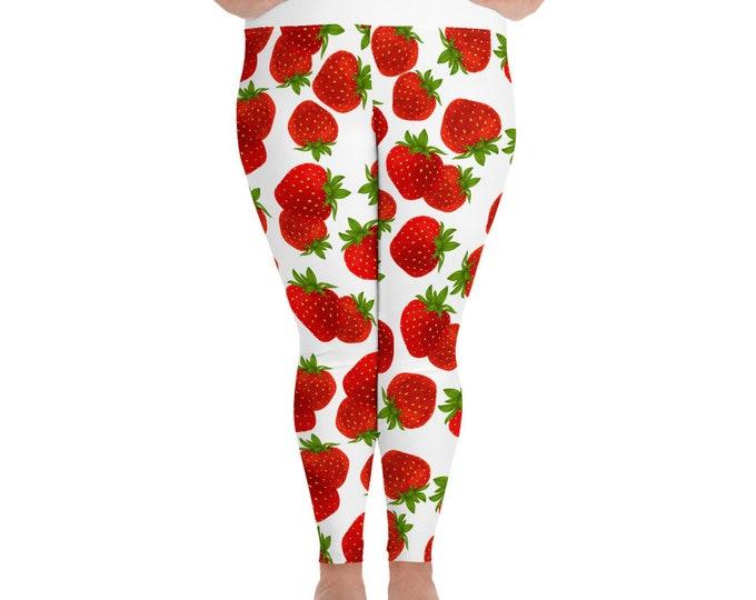 Strawberry Kisses Plus Size Leggings