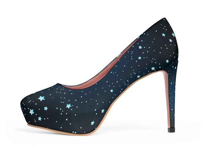 Cosmic Sky Platform Heels