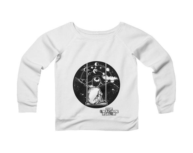 Child Like Wonder -Wide Neck Off The Shoulder Sweatshirt