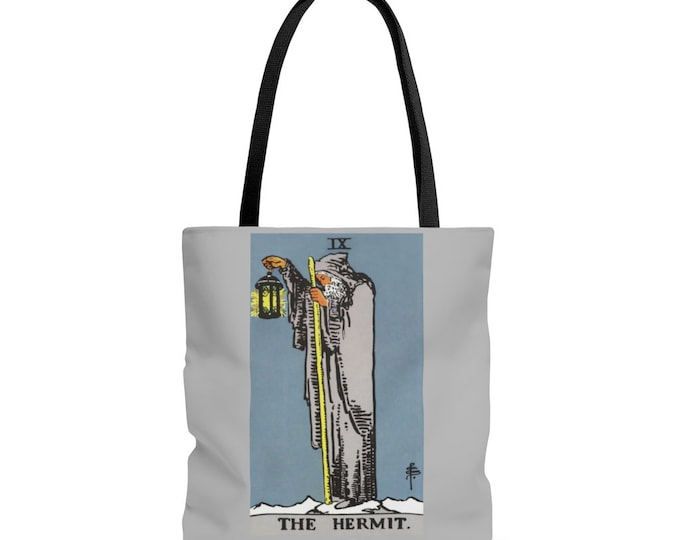 The Hermit Reusable Tote Bag Tarot Divination