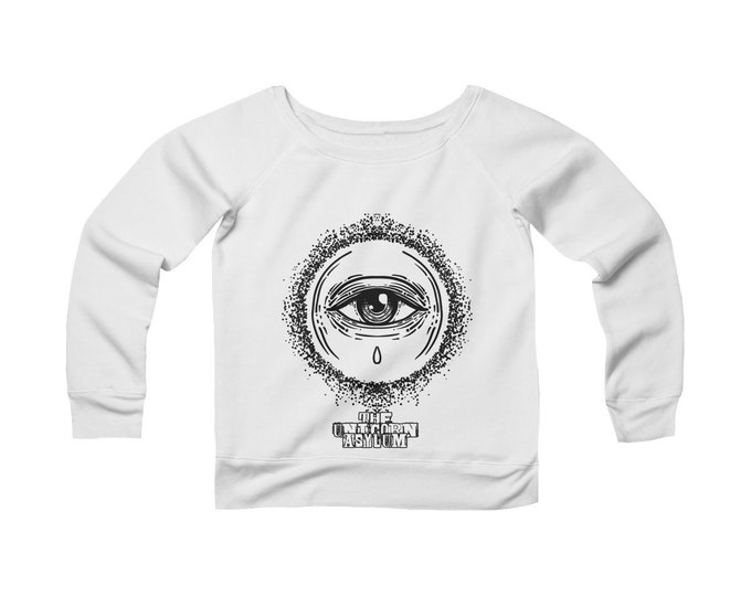 The Vision Alchemy - Wide Neck Off The Shoulder Sweatshirt