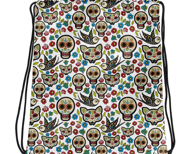 Sugar Skull Drawstring bag