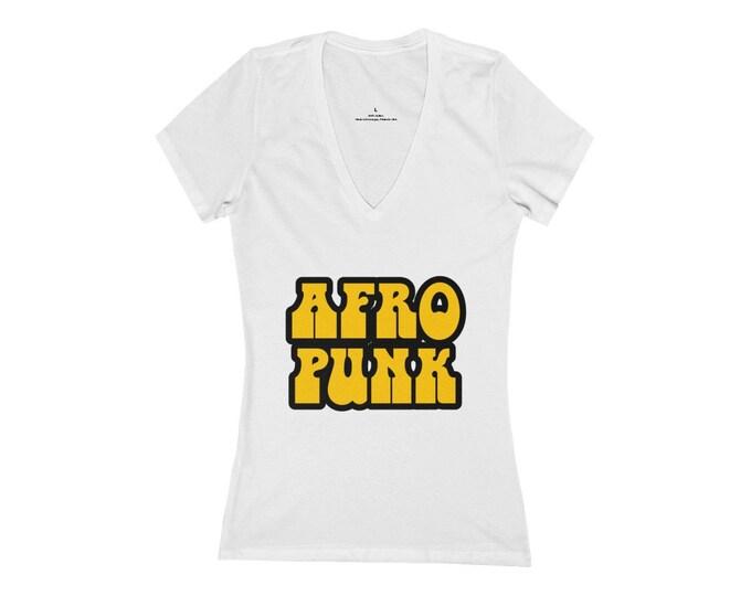 Afro Punk Deep V-Neck Tee
