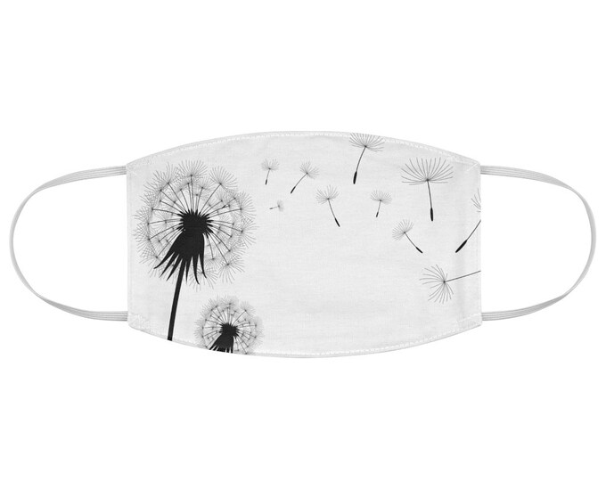 Make A Wish Dandelion Seed Fabric Face Mask
