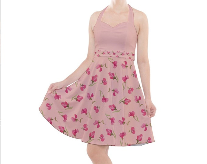 Sweet Pea - Rockabilly Halter Dress