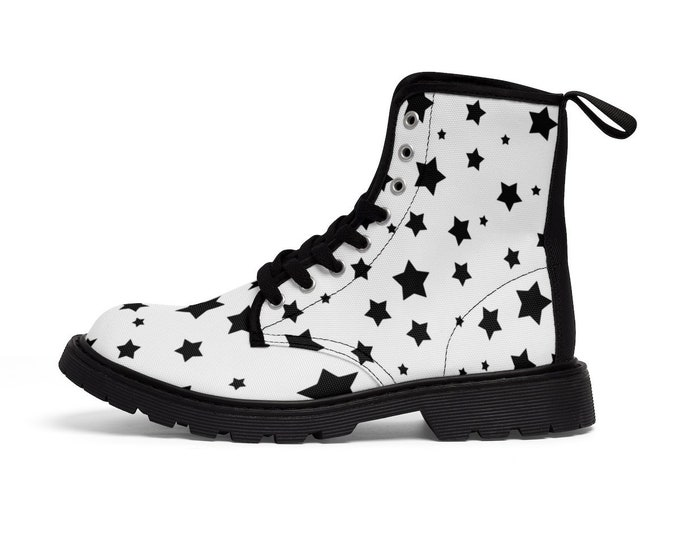 Wish Upon a Star-Vegan Combat Boots