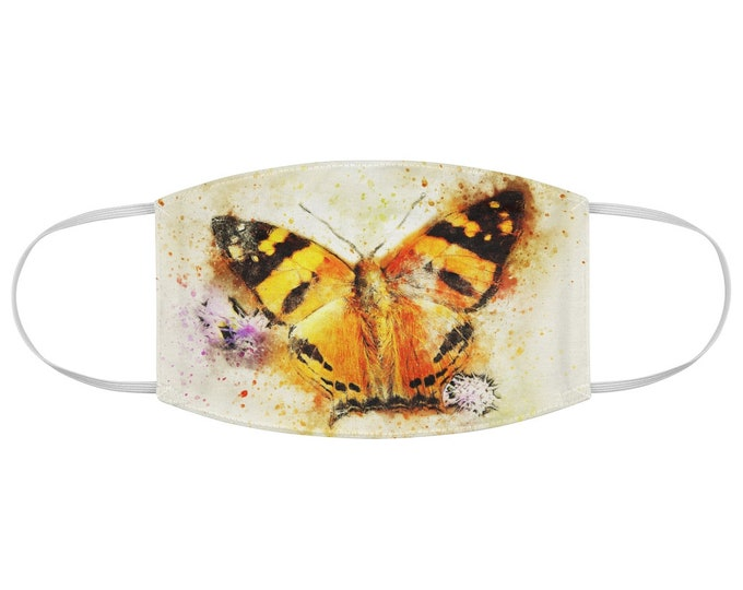 Watercolor Moth Fabric Face Mask