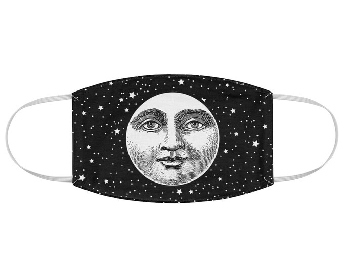 Vintage Moon Fabric Face Mask