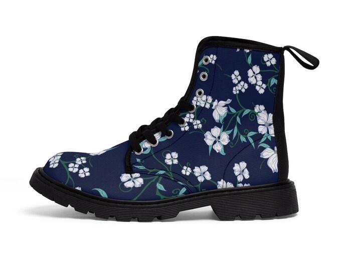 Dogwood Pattern Martin Boots