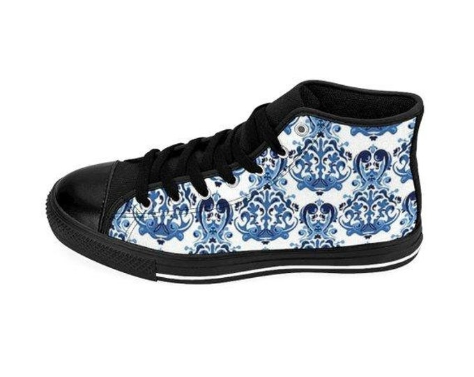 Delft Blue  HighTop Sneakers