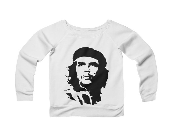Che Revolution- -Fleece Wide Neck -Off The Shoulder- Sweatshirt
