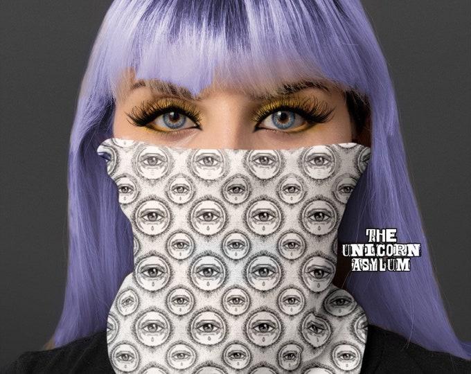 All Seeing Eye Esoteric Neck Gaiter  Versatile Face Mask, Scarf, Head Band, Neck Warmer, Bandana, Wrist Band