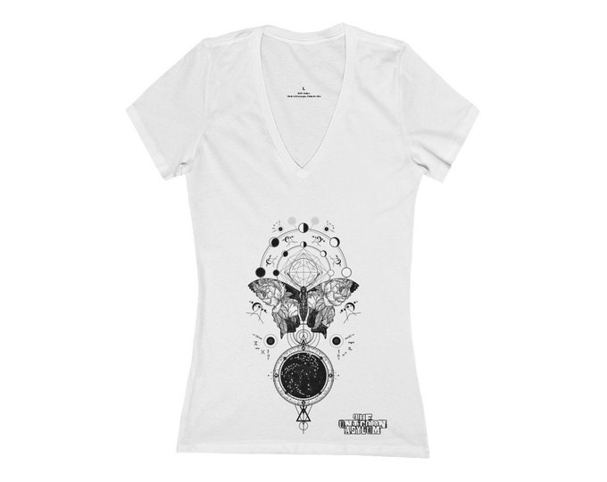 Metamorphosis Sacred Geometry- Deep V-Neck Tee