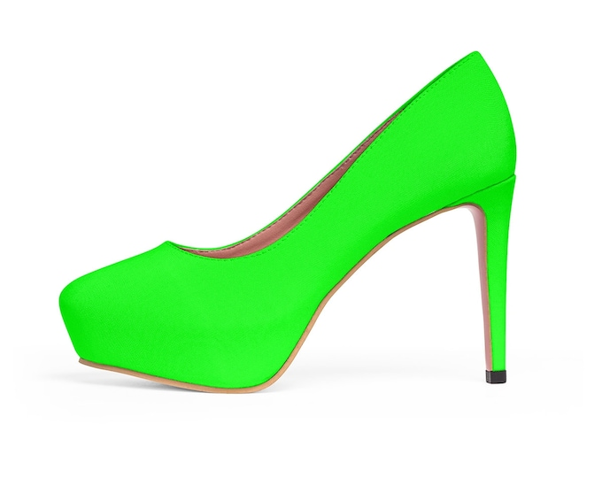 Neon Lime Platform Heels