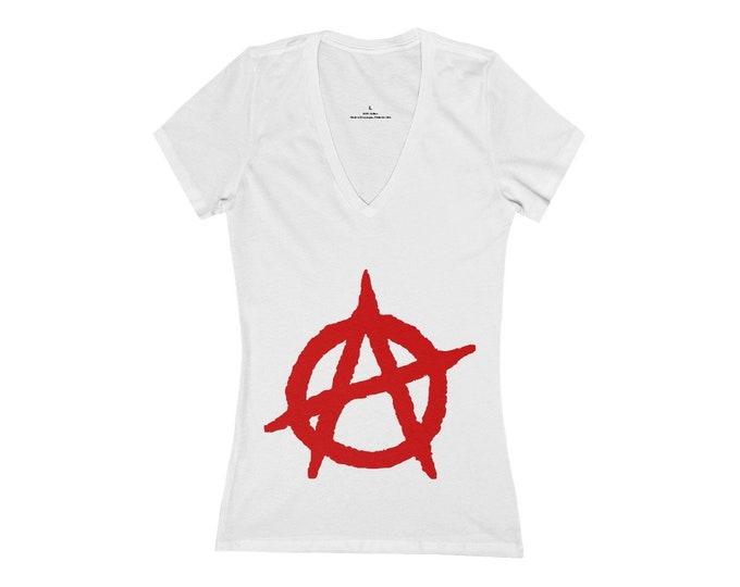 Anarchist Deep V-Neck Tee