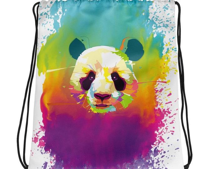 Watercolor Panda Drawstring bag