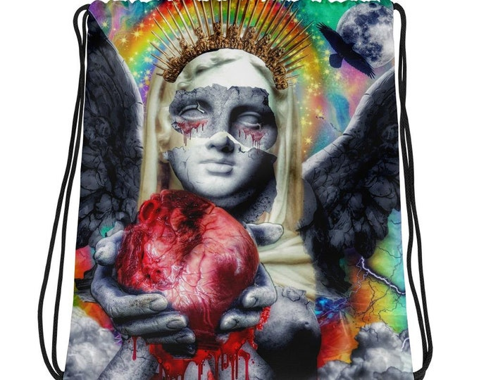 Departed Sorrow Drawstring Bag