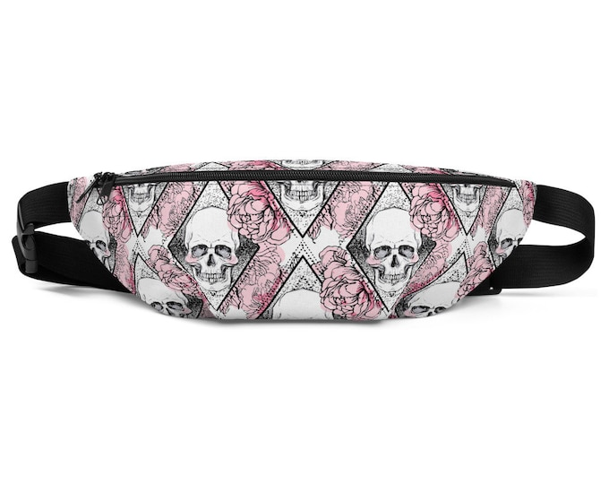 Floral Skull Decomposition -Fanny Pack