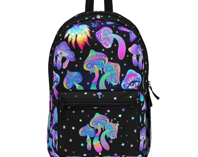Pastel Goth Psychedelic Mushroom Backpack (Made in USA)