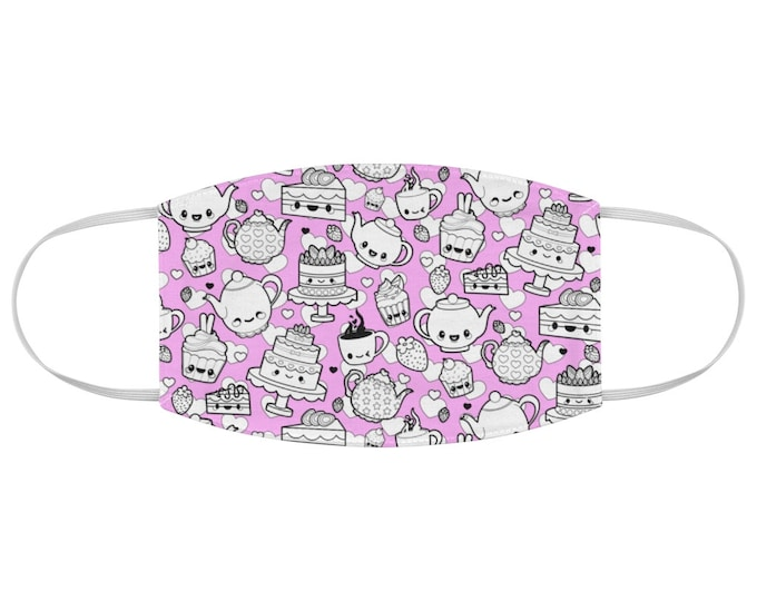 Kawaii Tea Time Fabric Face Mask