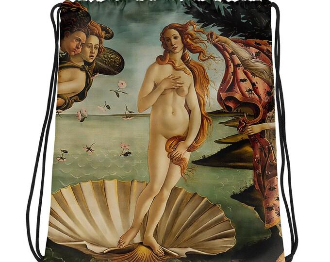 The Birth Of Venus Drawstring bag