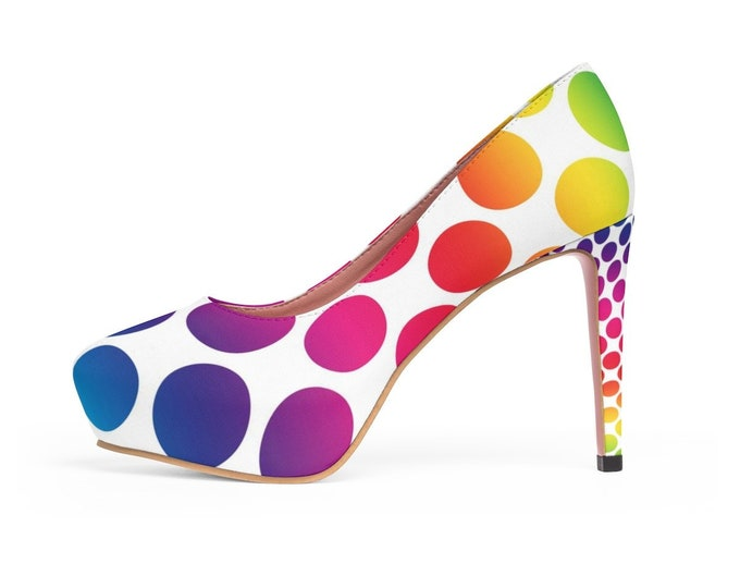 Rainbow Dreams Platform Heels