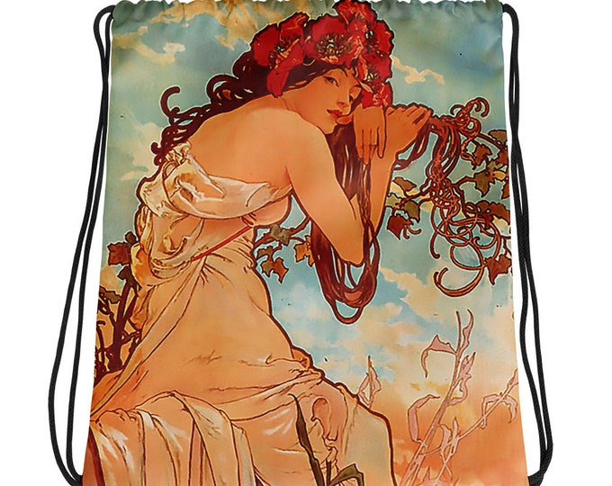 Alphonse Mucha- Summer 1896 Drawstring bag
