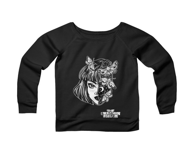 Nocturnal-  Wide Neck Off the Shoulder Sweatshirt