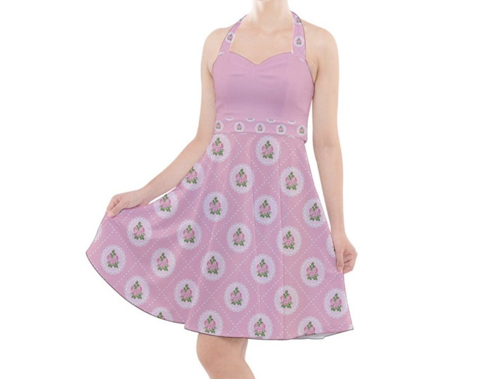Sweet Vintage Pink - Rockabilly Halter Dress