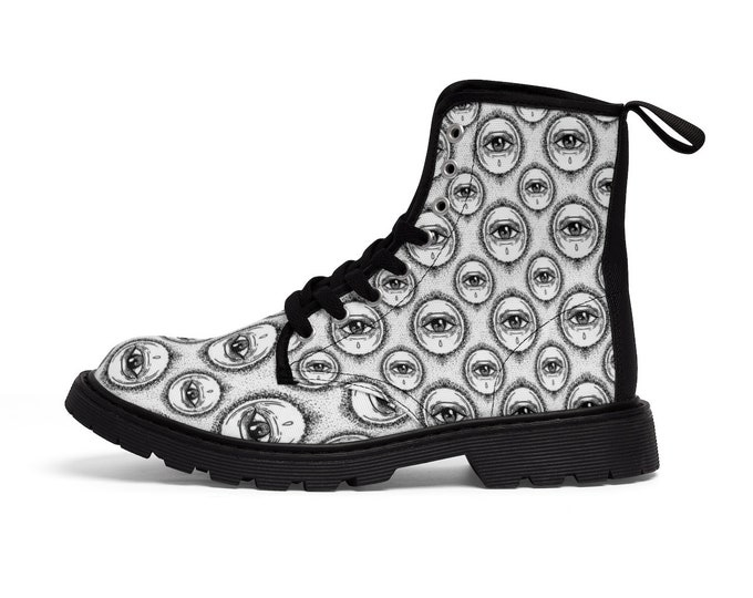 The eYe Of Truth- Vegan Combat Boots