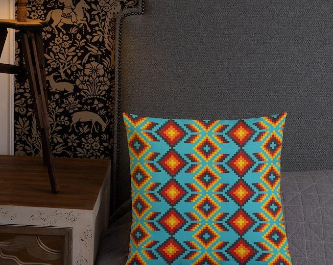 Turquoise Dusk Decor Pillow