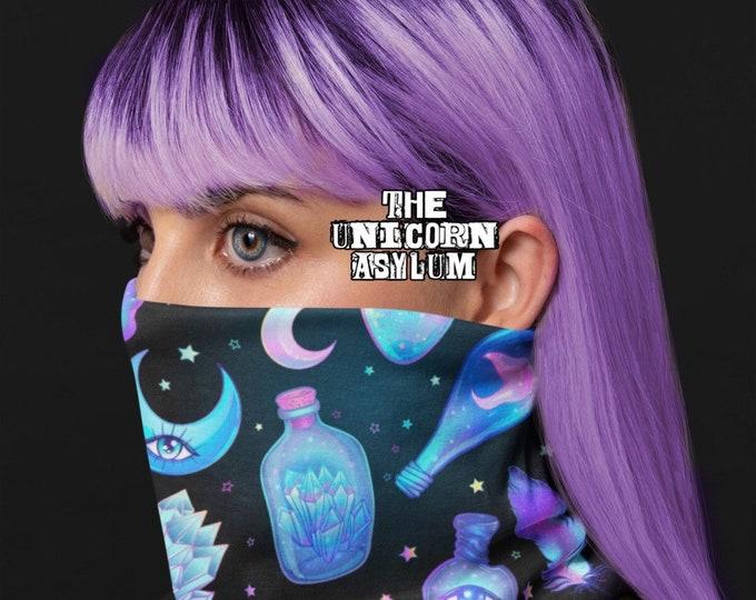 Pastel Goth Alchemy Neck Gaiter Versatile Face Mask, Scarf, Head Band, Neck Warmer, Bandana, Wrist Band