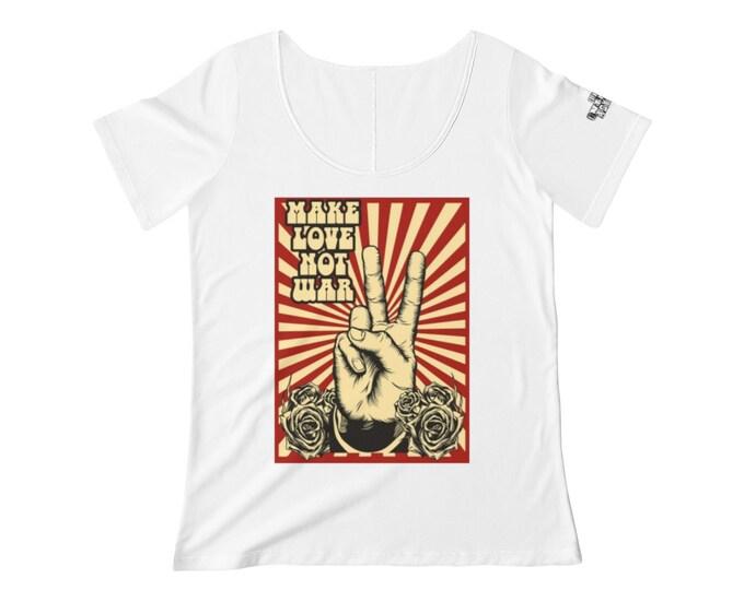 Make Love Not War- Scoop Neck T-shirt