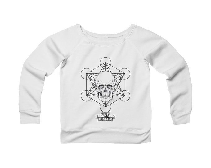 Alchemy Sacred Geometry Wide Neck Off The Shoulder Sweatshirt