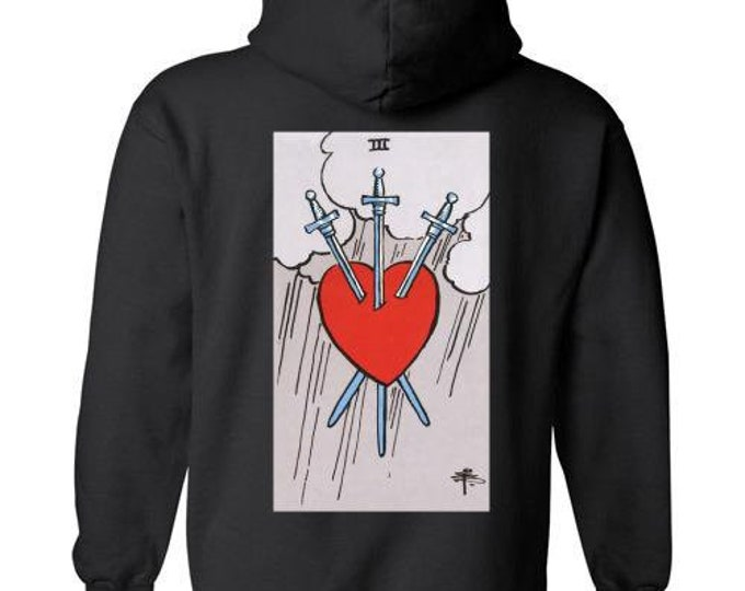 3 of Swords Pullover Hoodie (Available in 8 colors)