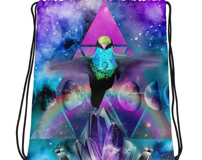 Hummingbird Totem- Drawstring Backpack