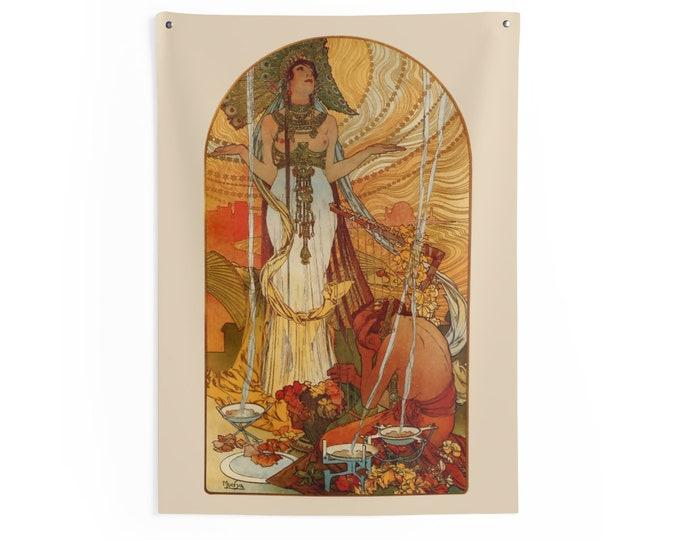 Salammb 1896 Alphonse Mucha Wall Tapestry