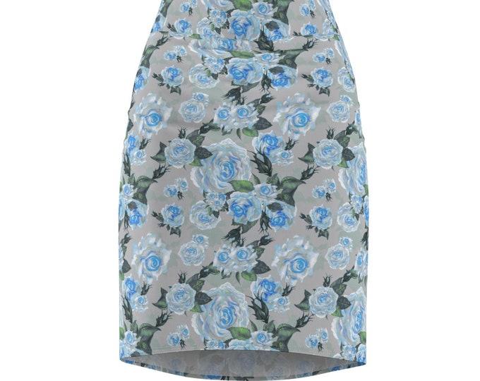 The Slate Rose- Pencil Skirt