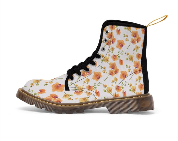 Wild Orchid Vegan Combat Boots