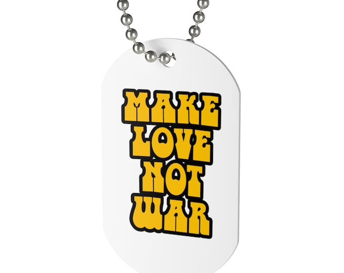 Make Love Not War Necklace