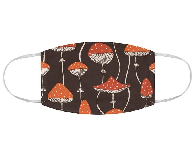 Toadstool Fly Agaric Amanita Muscaria Magic Mushroom Fabric Face Mask V.2