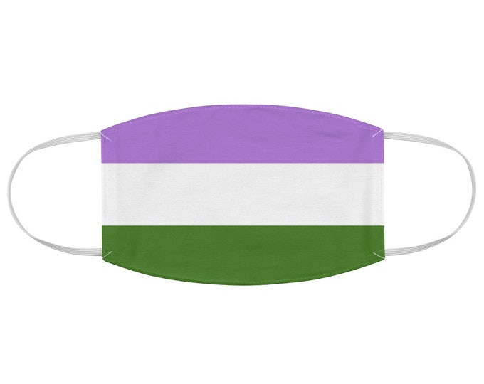 Genderqueer Pride Flag Fabric Face Mask