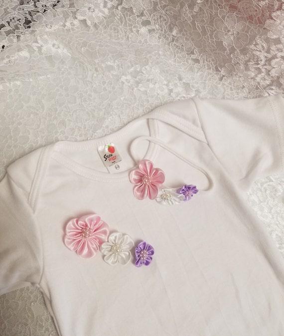 Ausgefallene Baby Strampler Set Nach Der Taufe Mädchen Outfit Baby Dusche Geschenk Babymädchen Weiß Taufe Baby Body Nehmen Hause Baby Outfit