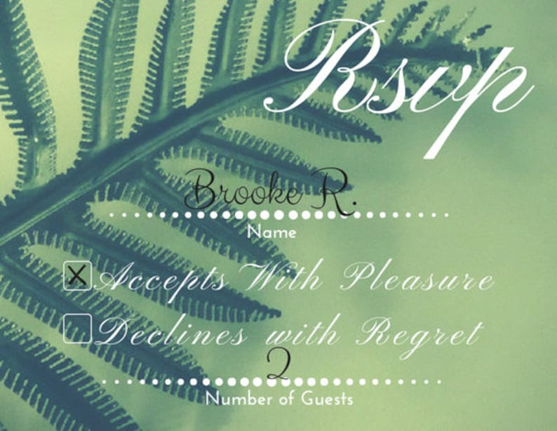 3 Options in 1 Fern RSVP Printable Template Download