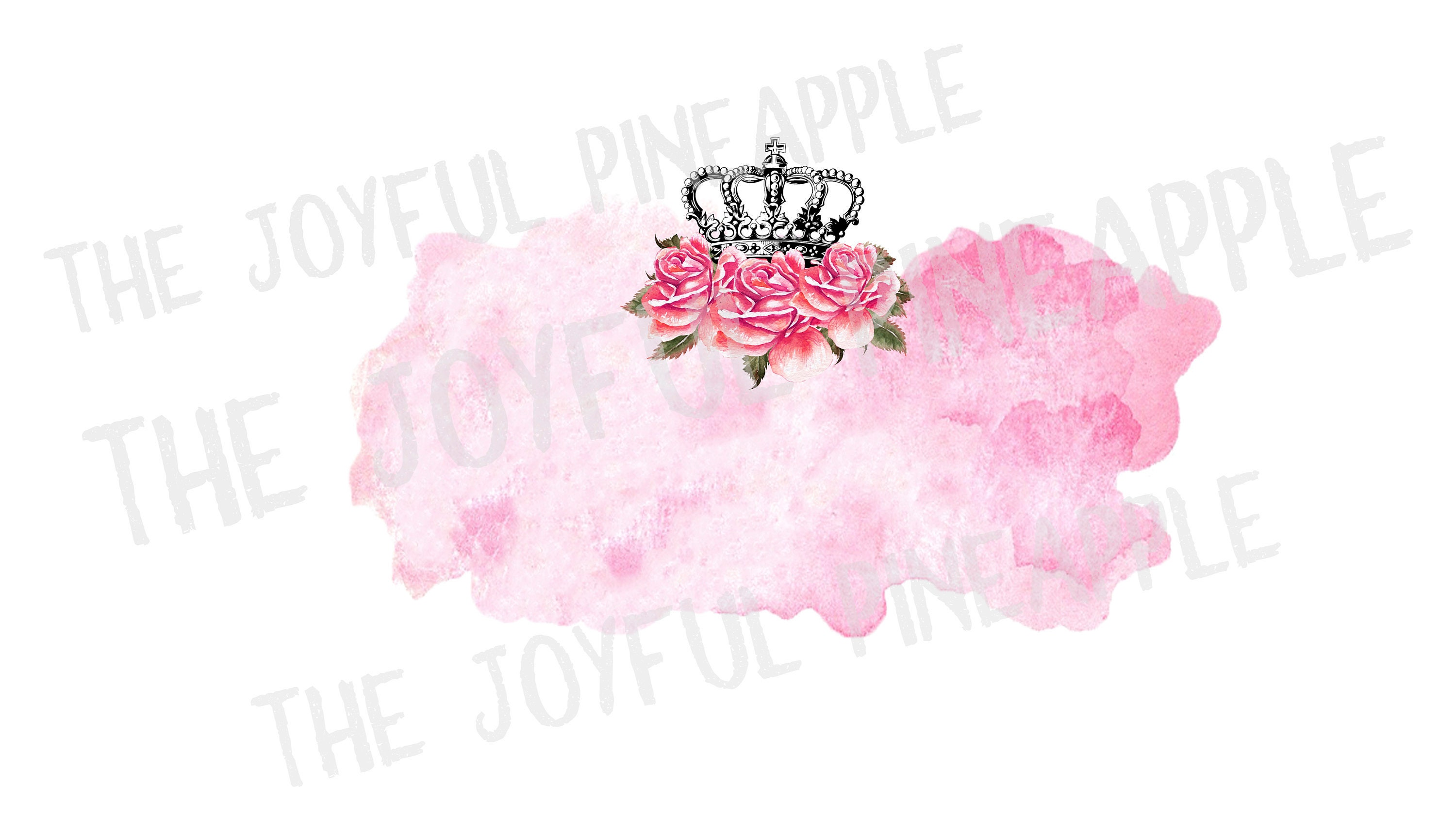 Flower Crown Watercolor Background Sublimation Design Png Etsy