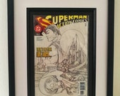 Unique Framed Superman Sk...