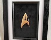Framed Metal Star Trek Di...
