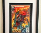 Framed Superman Comic Boo...